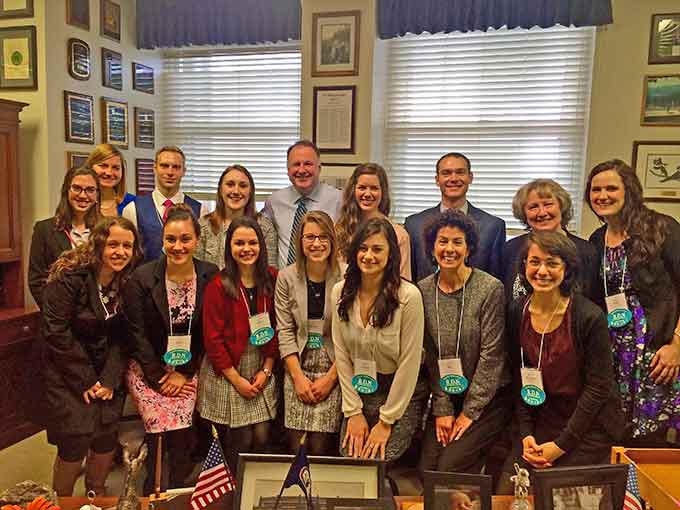 Creigh Deeds with representatives from the Virginia Academy of Nutrition and Dietetics